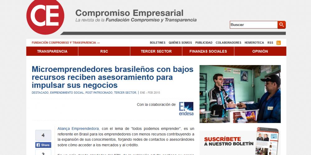 Aliança Empreendedora é tema de artigo publicado na Espanha em revista especializada sobre o Terceiro Setor