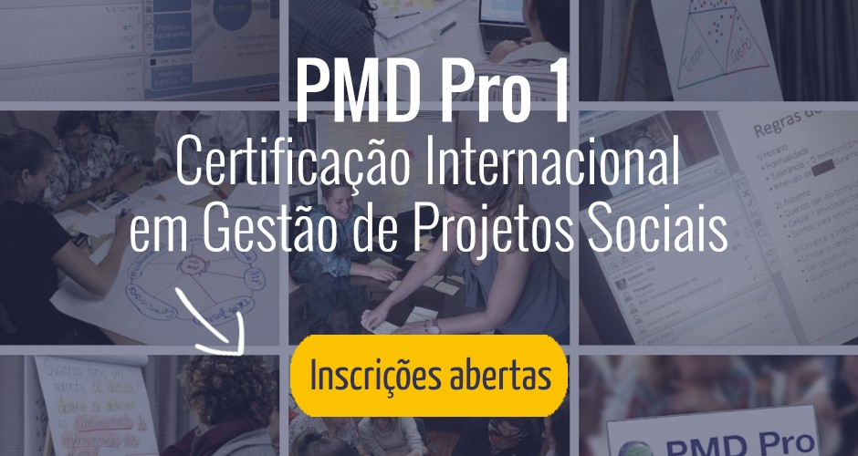 Inscrições abertas: Certificação Internacional em Gestão de Projetos Sociais