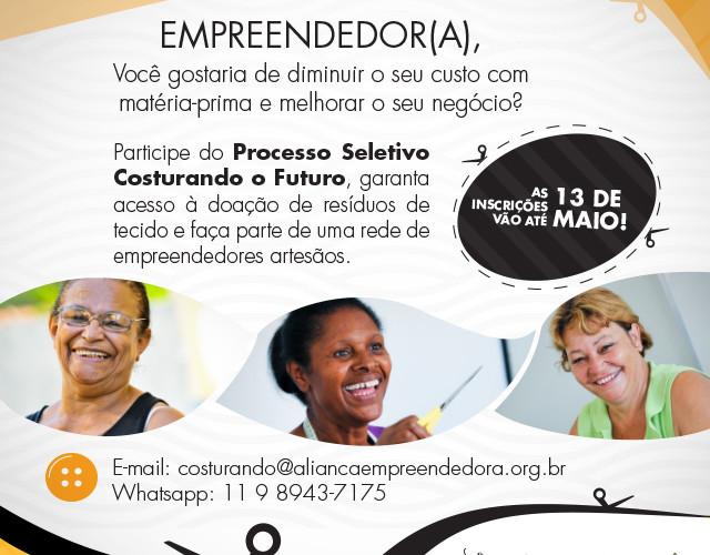 (Português) Projeto Costurando o Futuro com a Fundação Volkswagen -  abre inscrições em São Bernardo do Campo - SP e região!