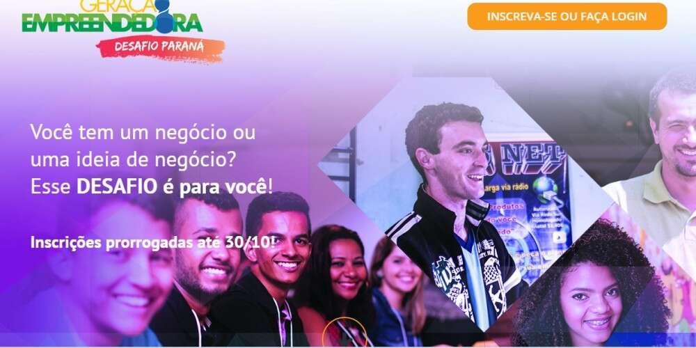 Inscrições prorrogadas: Geração Empreendedora – Desafio Paraná recebe inscrições até dia 30 de outubro!