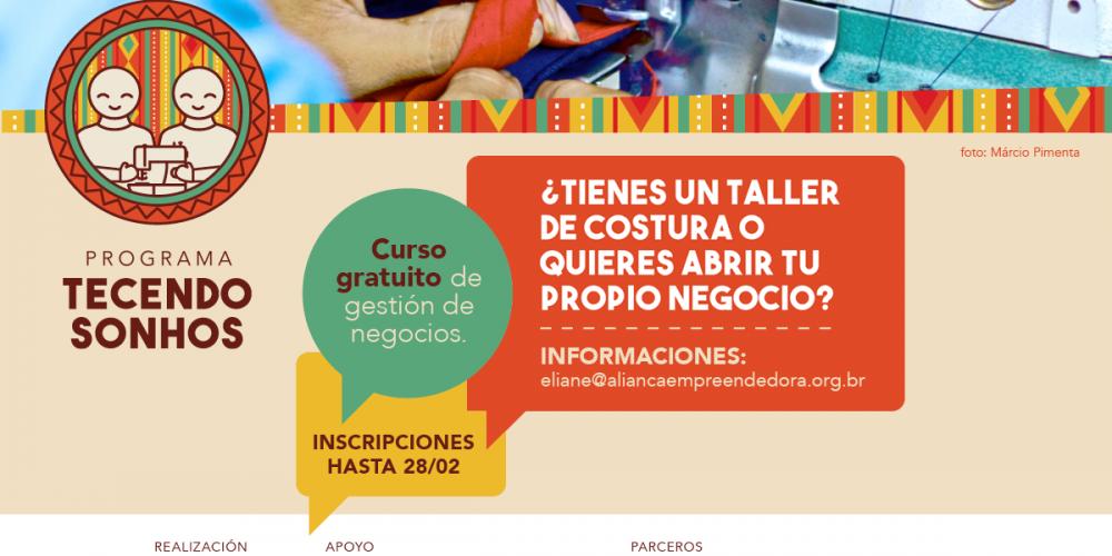 (Português) Programa Tecendo Sonhos abre inscrições das primeiras capacitações de 2017 para empreendedores imigrantes em São Paulo – SP