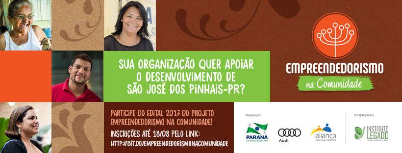 Venha apoiar o desenvolvimento de São José dos Pinhais-PR, junto com o Projeto Empreendedorismo na Comunidade!