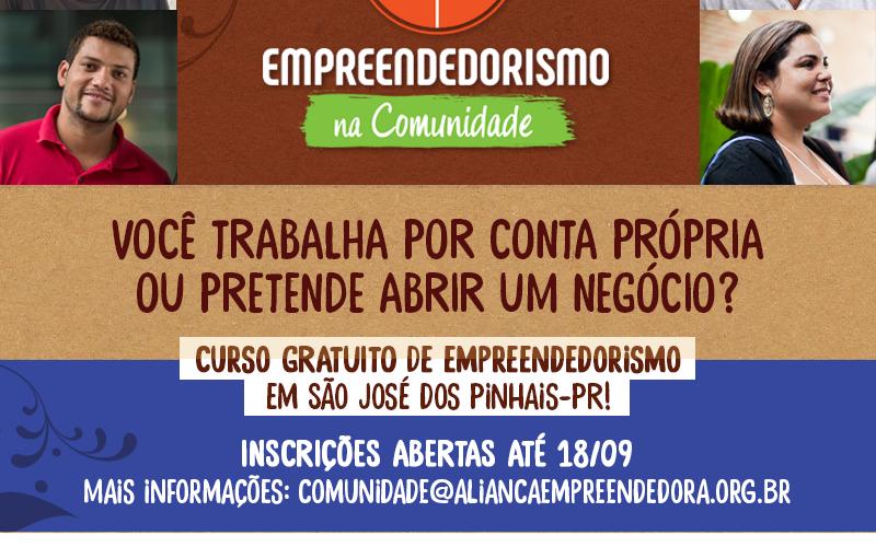 Projeto Empreendedorismo na Comunidade em São José dos Pinhais leva capacitação gratuita para os microempreendedores da região
