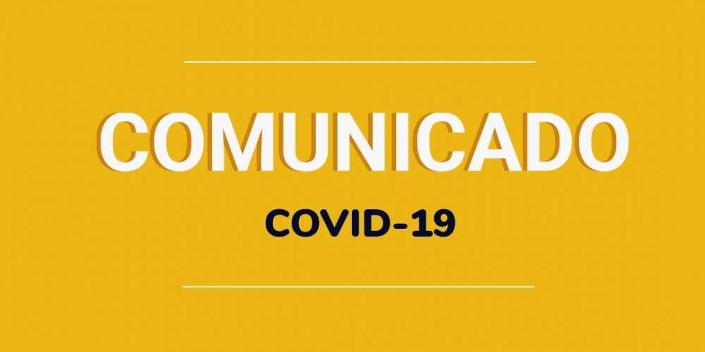Comunicado sobre a COVID-19